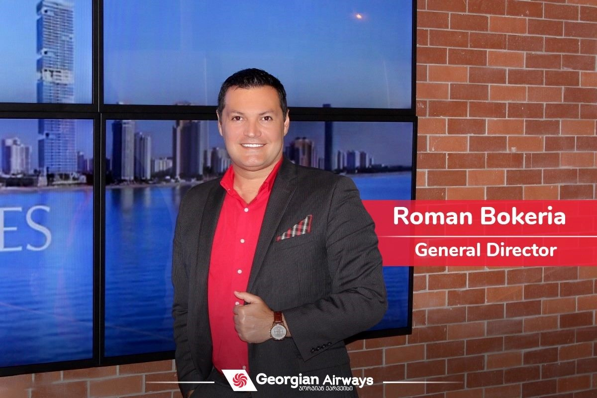 Roman Bokeria is appointed as a Director General of the air company Georgian Airways