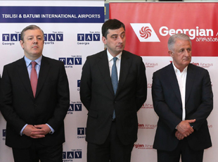 Presentation of the new flight of Georgian Airways